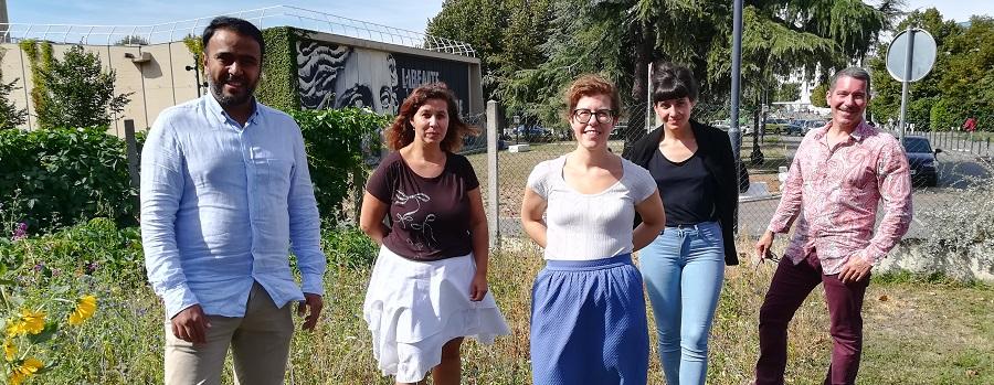 L'équipe du RSUDD dans son intégralité : Youssef, Stéphanie, Lucia, Pauline et Arnaud